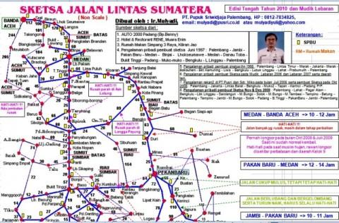 Peta Mudik Sumatera (excel)